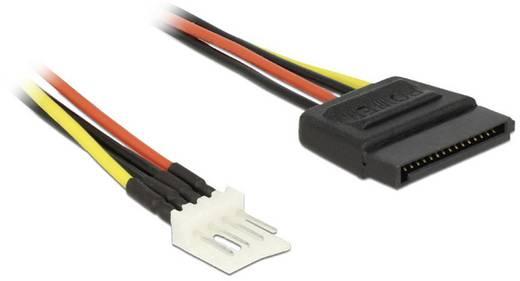 Anschlusskabel [1x SATA-Strom-Stecker 15pol. - 1x Floppy Stecker 4pol.] 0.24 m Schwarz, Rot, Gelb Delock