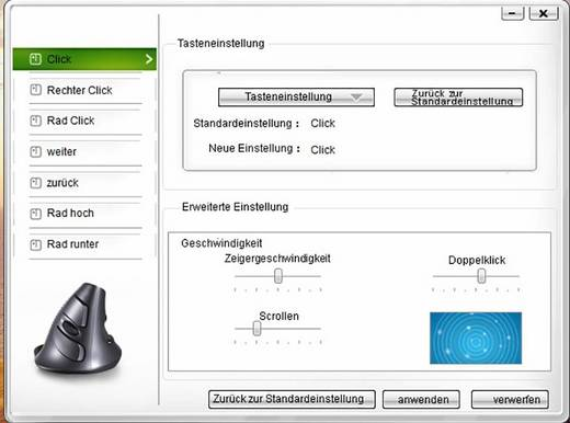 USB-Maus Optisch Renkforce M618BU Ergonomisch Schwarz