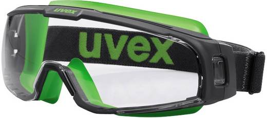 Schutzbrille Uvex u-sonic 9308245 Schwarz, Grün