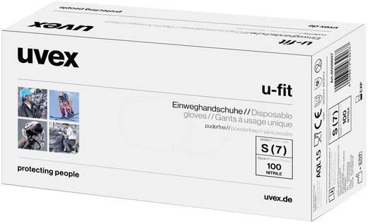 Nitril Einweghandschuh Größe (Handschuhe): 7, S EN 374 , EN 455 Uvex -fit 6059607 100 St.
