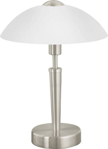 Tischlampe Energiesparlampe, LED E14 60 W EGLO Solo 1 85104 Nickel (matt)