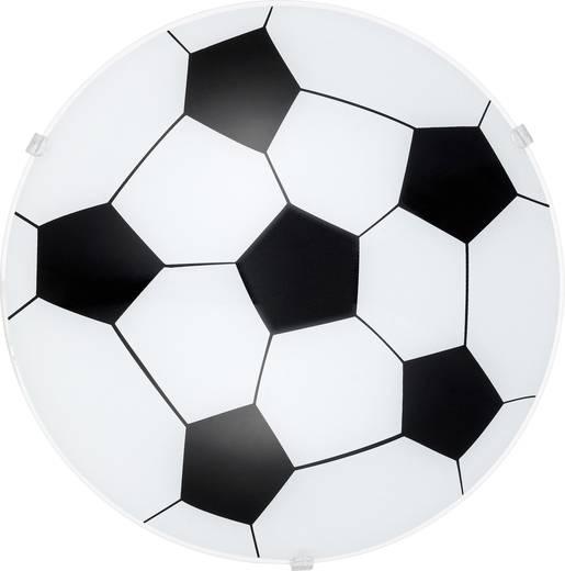 Wandleuchte Fußball LED E27 60 W EGLO 87284 Weiß, Schwarz
