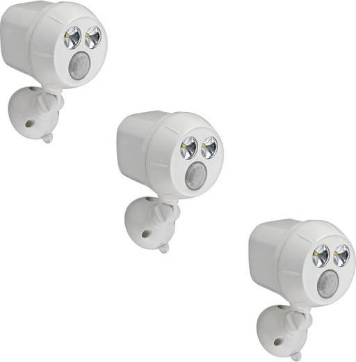Mr. Beams MB383 LED-Außenstrahler mit Bewegungsmelder Kalt-Weiß Weiß