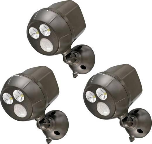 Mr. Beams MB393 LED-Außenstrahler mit Bewegungsmelder Kalt-Weiß Braun
