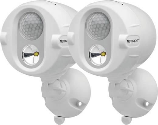 Mr. Beams MBN342 LED-Außenstrahler mit Bewegungsmelder Kalt-Weiß Weiß