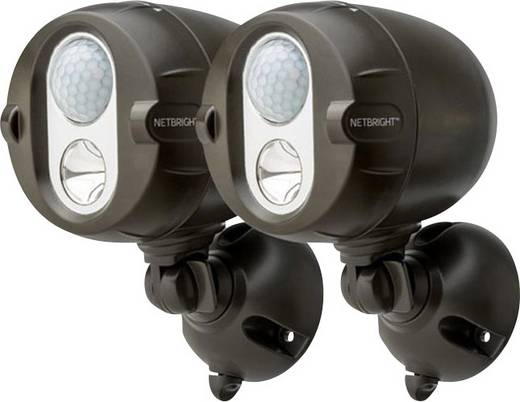 Mr. Beams MBN352 LED-Außenstrahler mit Bewegungsmelder Kalt-Weiß Braun