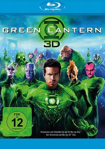 blu-ray 3D Green Lantern 3D + 2D / 2. Auflage FSK: 12