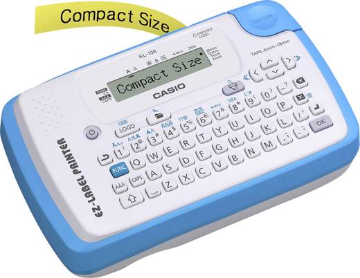 Casio KL-130 Beschriftungsgerät Geeignet für Schriftband: XR 6 mm, 9 mm, 12 mm, 18 mm