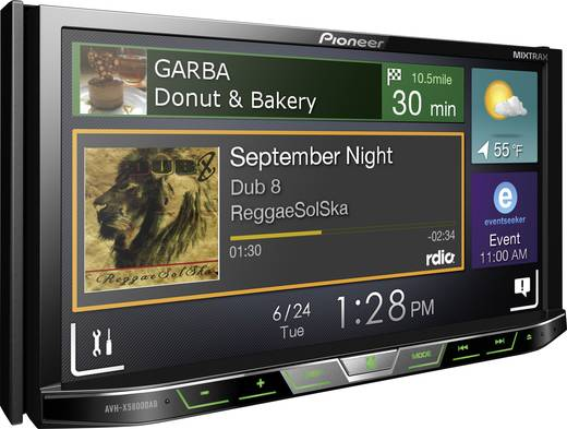doppel din moniceiver pioneer avh x5800dab dab tuner. Black Bedroom Furniture Sets. Home Design Ideas