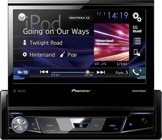 Pioneer AVH-X7800BT Moniceiver Anschluss für Lenkradfernbedienung, Anschluss für Rückfahrkamera, Bluetooth®-Freispreche