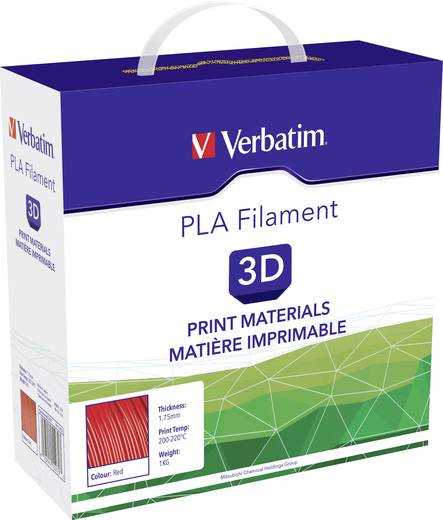 Filament Verbatim 55270 PLA 1.75 mm Rot 1 kg