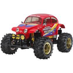 RC model auta monster truck Tamiya Monster Beetle, komutátorový, 1:10, zadní 2WD (4x2), stavebnice, 25 km/h