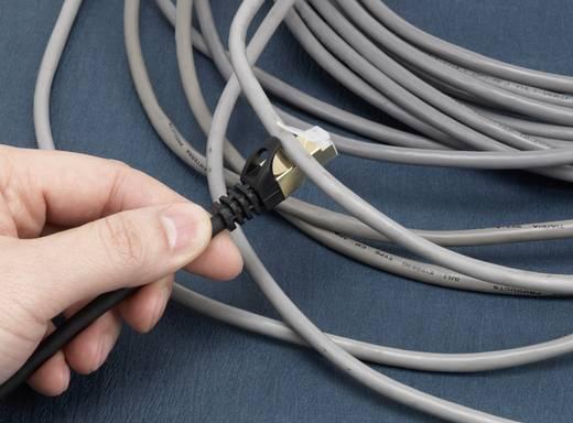"""renkforce CAT 6A (Rohkabel CAT 7) F/FTP Netzwerkkabel """"Flex"""" mit bruchsicherer Rastnase 1 m"""