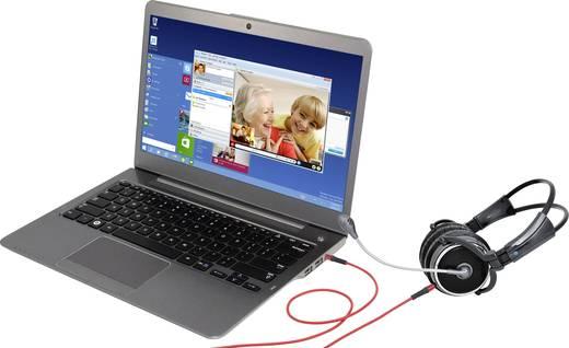 Klinke 4pol. Audio Anschlusskabel [1x Klinkenstecker 3.5 mm - 1x Klinkenstecker 3.5 mm] 1.50 m Rot SuperSoft-Ummantelung