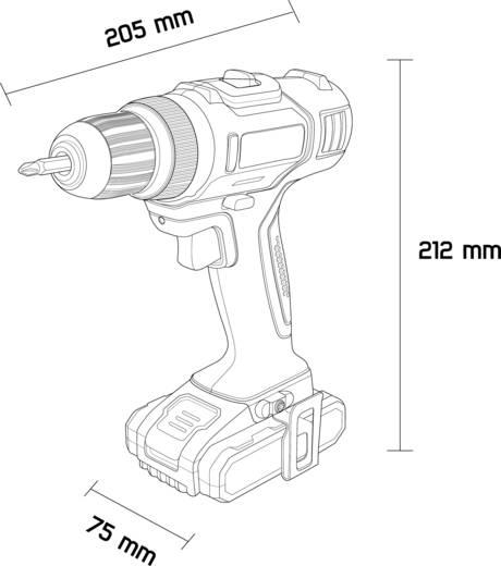 TOOLCRAFT DD 18 Akku-Bohrschrauber 18 V 2 Ah Li-Ion inkl. Akku, inkl. Koffer