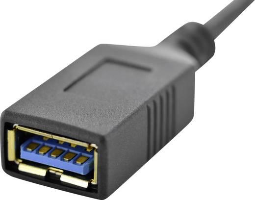 Digitus USB Adapter [1x USB 3.0 Stecker C - 1x USB 3.0 Buchse A] DK-300315-001-S mit OTG-Funktion, vergoldete Steckkonta