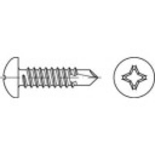 Bohrschrauben 6.3 mm 25 mm Kreuzschlitz Phillips DIN 7504 Stahl galvanisch verzinkt 500 St. TOOLCRAFT 141472