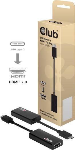 club3D USB / HDMI Adapter [1x USB-C™ Stecker - 1x HDMI-Buchse] Schwarz