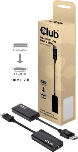 club3D DisplayPort / HDMI Adapter [1x DisplayPort Stecker - 1x HDMI-Buchse] Schwarz