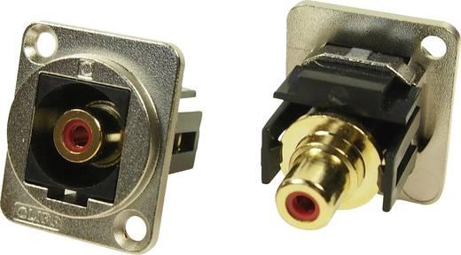 XLR Adapter Cinch Buchse auf Cinch Buchse Rot Adapter, Einbau CP30230M Cliff Inhalt: 1 St.