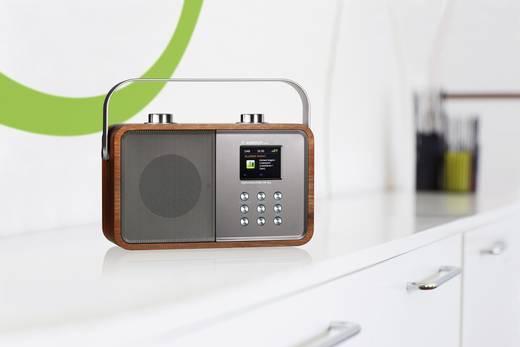 DAB+ Kofferradio Albrecht DR 850 AUX, Bluetooth®, DAB+, UKW Holz, Silber