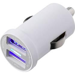 USB nabíječka do auta VOLTCRAFT CPS-2400/2WH, výstupní proud (max.) 2400 mA, 2 x USB
