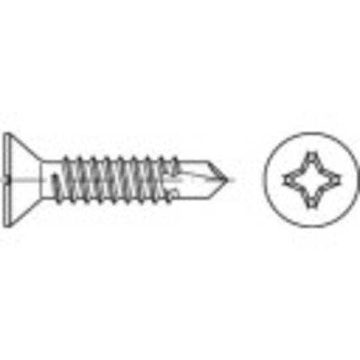 Bohrschrauben 6.3 mm 45 mm Kreuzschlitz Philips DIN 7504 Stahl galvanisch verzinkt 250 St. TOOLCRAFT 141527