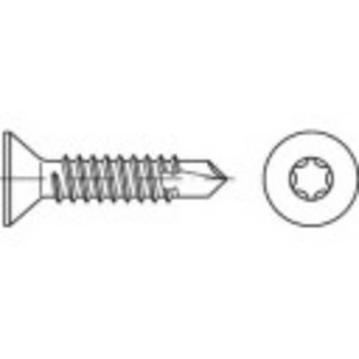 Bohrschrauben 6.3 mm 80 mm T-Profil DIN 7504 Stahl galvanisch verzinkt 100 St. TOOLCRAFT 141589