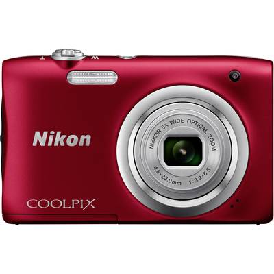 Nikon Coolpix A100 Digitalkamera 20.1 Mio. Pixel Opt. Zoom: 5 x Rot Full HD Video Preisvergleich