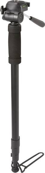 Pied simple Renkforce 1417794 1/4 pouce Hauteur de travail=64 - 180 cm noir housse incluse, rotule 3D, niveau à bulle