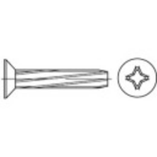 Schneidschrauben M8 40 mm Kreuzschlitz Philips DIN 7516 Stahl galvanisch verzinkt 100 St. TOOLCRAFT 141820