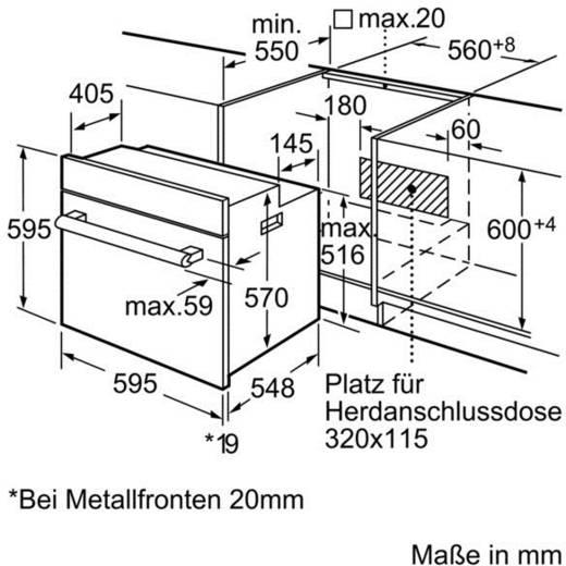 backofen 66 l bosch serie 6 edelstahl. Black Bedroom Furniture Sets. Home Design Ideas