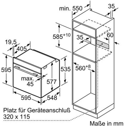Bosch Einbau Backofen Hbg635bw1 Serie 8