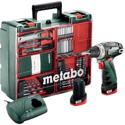 Aku vŕtací skrutkovač Metabo PowerMaxx BS 600080880, 12 V, 2 Ah, Li-Ion akumulátor