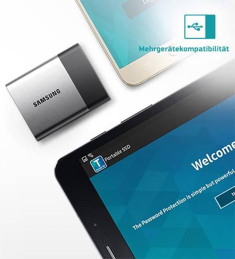Externe SSD Festplatte 250 GB Samsung Portable T3 Silber-Schwarz USB-C™ USB 3.1