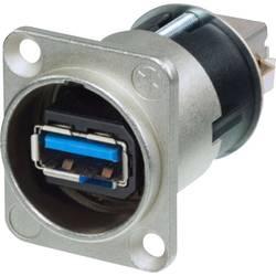 USB 3.0 zásuvka, vstavateľná Neutrik NAUSB3-B, čierna, 1 ks