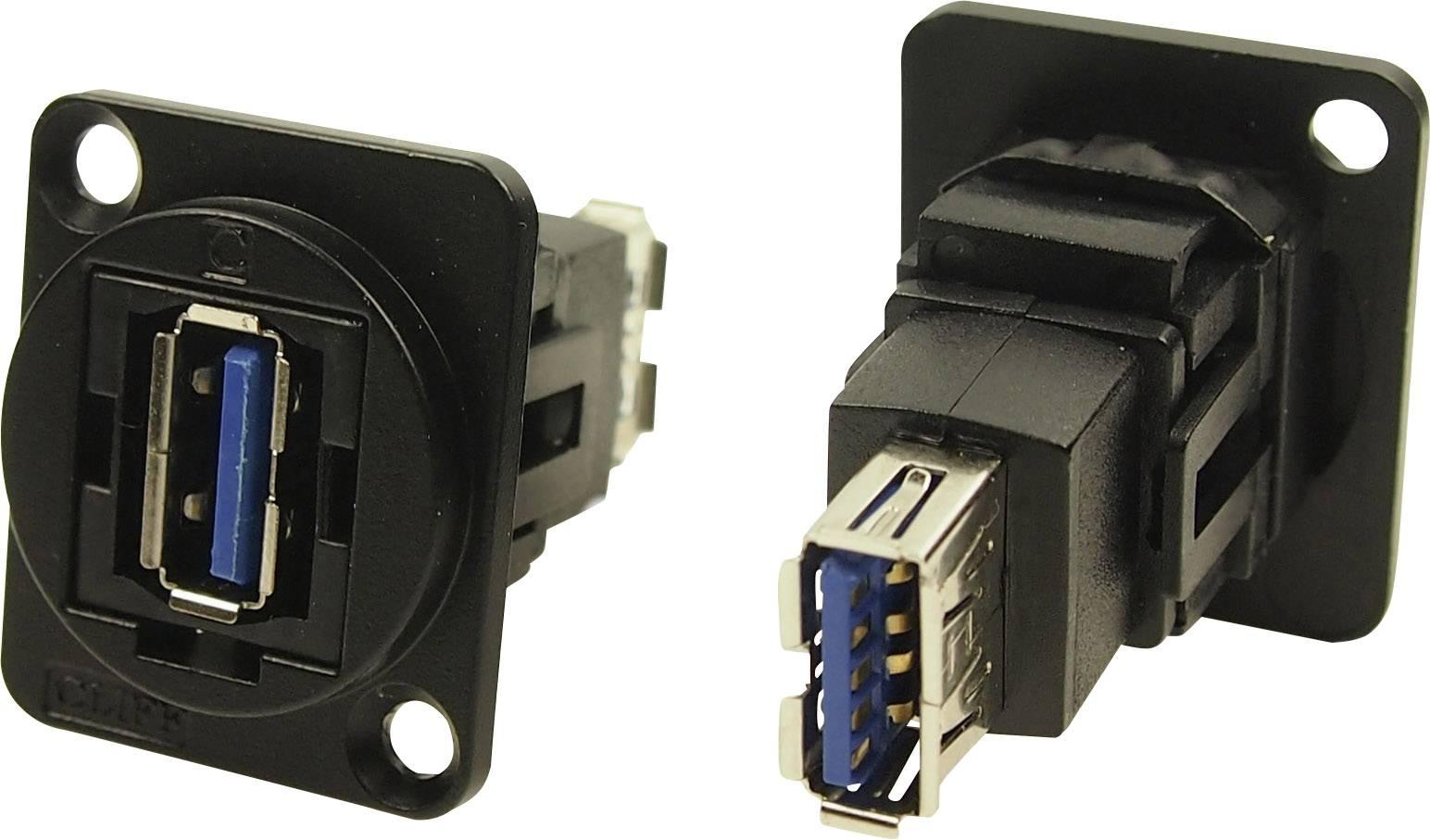 XLR Adapter USB A Buchse 3.0 auf USB A Buchse 3.0 Adapter Einbau CP30205NM