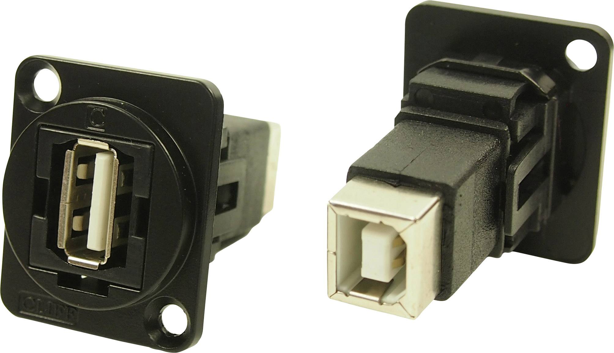 Einbau CP30207N  Clif XLR Adapter USB 2.0 B Buchse auf USB 2.0 A Buchse Adapter