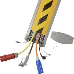Protège-câbles TPE (mélange de caoutchouc inodore) gris clair, noir-jaune Serpa B25 5.01000.1003 Nombre de canaux: 6 Lon