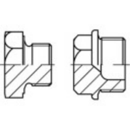 Verschlussschrauben M10 Außensechskant DIN 7604 Stahl galvanisch verzinkt 100 St. TOOLCRAFT 141996