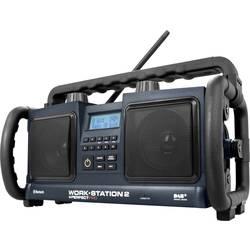 DAB+ rádio na stavbu PerfectPro Workstation 2 AUX, Bluetooth, čierna