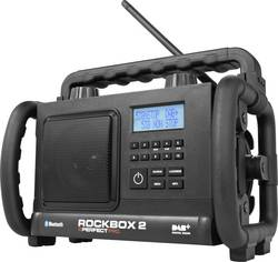 DAB+ outdoorové rádio PerfectPro Rockbox 2, AUX, Bluetooth, DAB+, FM, černá