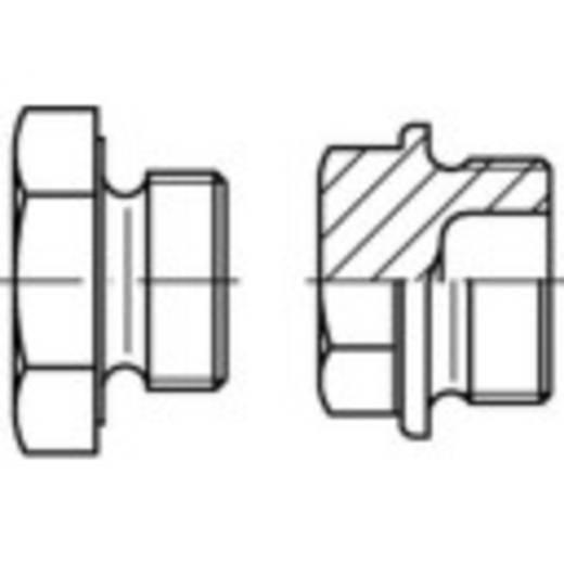 Verschlussschrauben M8 Außensechskant DIN 7604 Stahl 100 St. TOOLCRAFT 141988