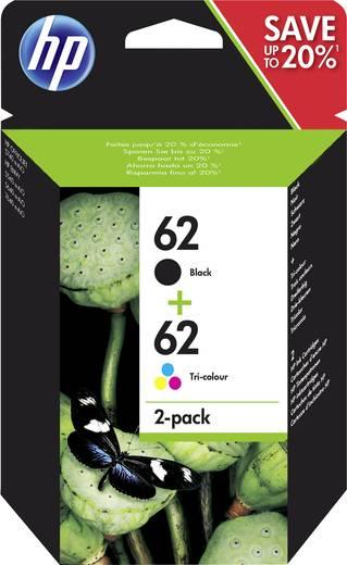 hp tinte 62 original kombi pack schwarz cyan magenta gelb n9j71ae. Black Bedroom Furniture Sets. Home Design Ideas