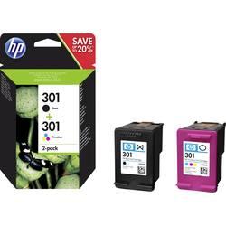 Sada náplní do tlačiarne HP 301 N9J72AE, čierna, zelenomodrá, purpurová, žltá