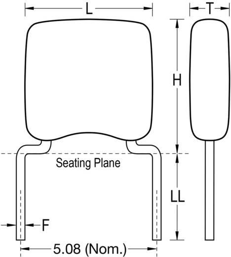 Keramik-Kondensator radial bedrahtet 47 nF 50 V 10 % (L x B x H) 5.08 x 3.18 x 5.84 mm Kemet C322C473K5R5TA+ 1 St.