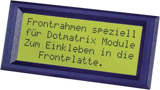Frontrahmen Schwarz Passend für: LC-Display 16 x 2 (B x H) 76 mm x 27 mm ABS