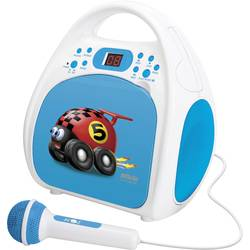 Detský CD prehrávač Silva Schneider Kids Play One, CD, CD-R, vr. mikrofónu, modrá