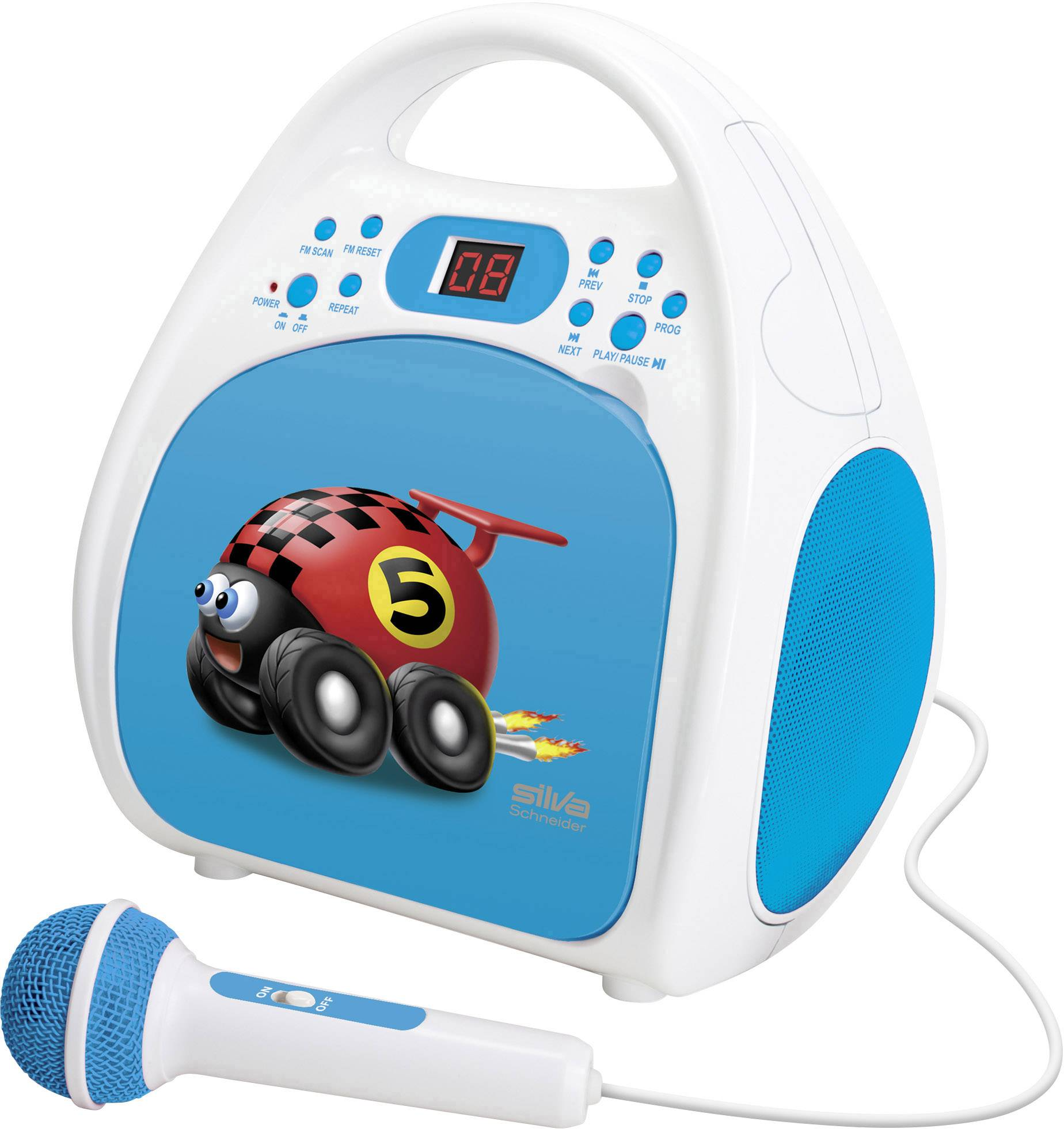 Silva Schneider Kids One Play CD Player Für Kinder Blau CD, CD R, Radio