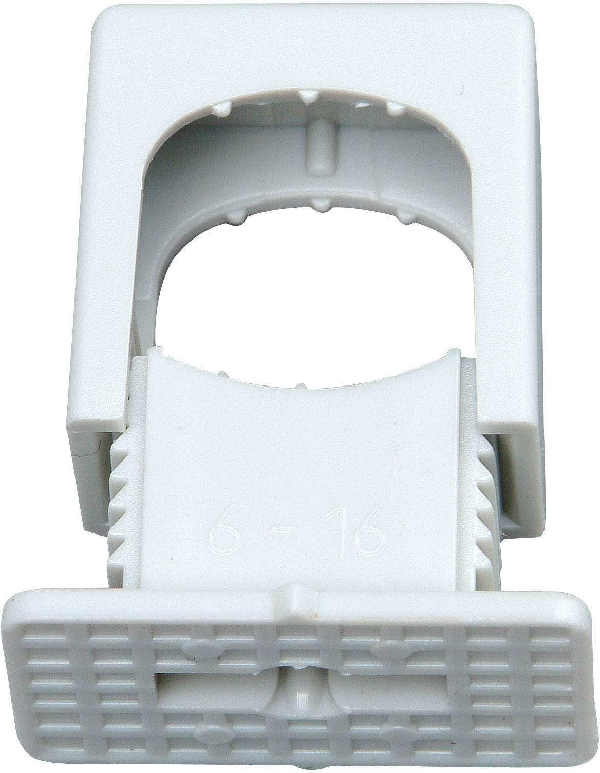 Kopp Druck-Iso-Schelle 6-16mm M6-Gewinde Kabelbefestigung f Leitungen grau 50St